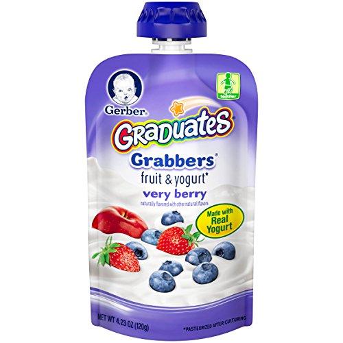 Gerber Graduates Grabbers - Very Berry - 4.23 oz - 6 pk