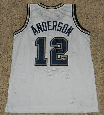 31b48c45ee4 Image Unavailable. Image not available for. Color  Autographed Kenny  Anderson Jersey ...