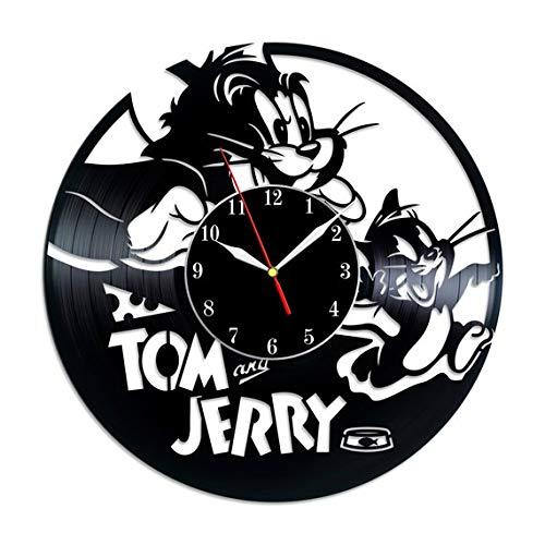 Tom and Jerry Vinyl Record Wall Clock, Tom