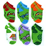 TMNT Teenage Mutant Ninja Turtles Baby 6 pk Socks (12-18M, TMNT Turtles Ankle)