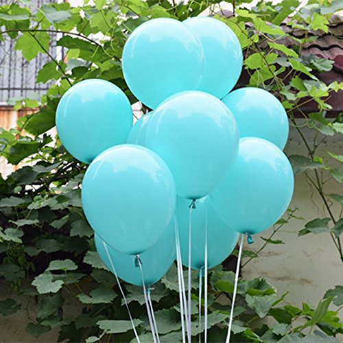 PIRAR 30pcs Tiffany Blue Balloons Set for Weddings Birthday Party Decoration,Bridal & Baby Showers]()