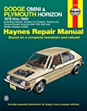 Haynes Dodge Omni and Plymouth Horizon, 1978-1990, John Haynes and M. B. Gilmour, 1850107459