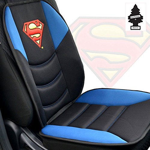 DC+Comics Products : New Stylish and Comfortable Foam Padded DC Comic Superman Car Truck SUV Seat Cushion with Air Freshener