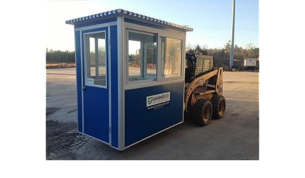 Prefabricados 4 x 6 caseta de guardia de seguridad/cabina de billete/aparcamiento quiosco - Modelo de economía con puerta batiente (: Amazon.es: Amazon.es
