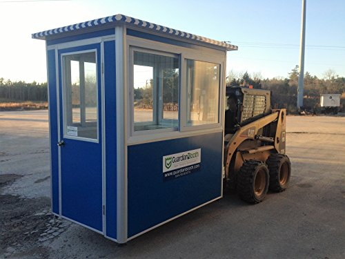 (Prefabricated 4' x 6' Security Guard Shack/Ticket Booth/Parking Attendant Kiosk - Economy Model with Swinging Door)