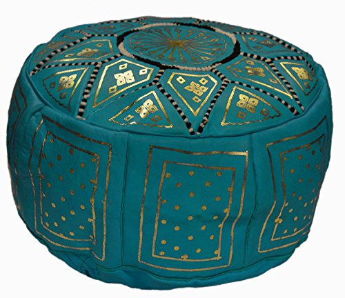 Moroccan Pouf Handmade Leather Luxury Ottomans Footstools Cover High Quality Satisfaction Guaranteed by Moroccan Poofs