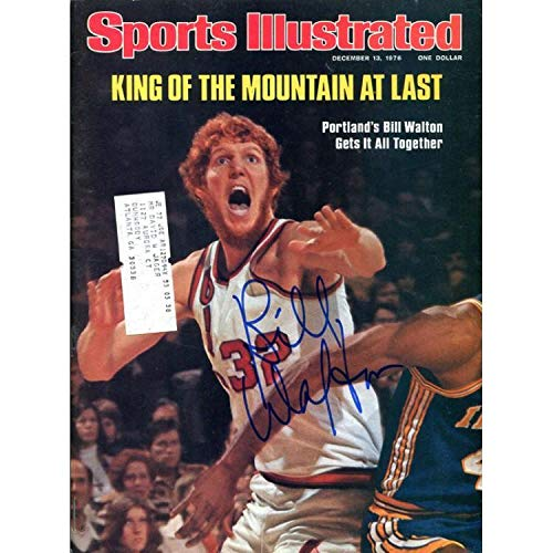 Bill Walton Autographed Sports Illustrated Magazine- December 13,1976 - Autographed NBA Magazines