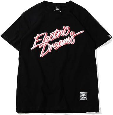 Hombres Hip Hop Sueños eléctricos Camiseta de Moda Antigua Vintage Hiphop Verano Algodón 100 High Street Tops Camisetas: Amazon.es: Ropa y accesorios