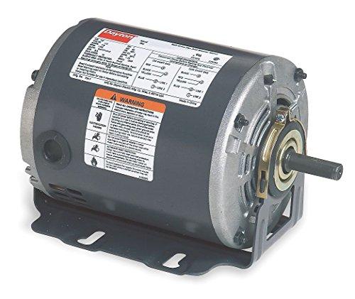 Dayton 5K260 Motor, 1/4 hp, 60Hz, Belt, Degrees_Fahrenheit, to Volts, Amps, (