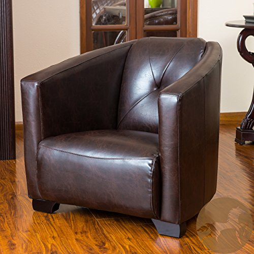 Christopher Knight Home 238861 Dale Leather Club Chair, Brown