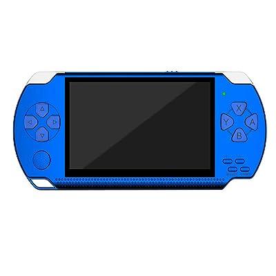SU Consola de Juegos para niños PSP para Adultos, de 4,3 Pulgadas, 32 bits, 8 GB, Arcade Nostálgico, Reproductor mp5,Blue: Hogar