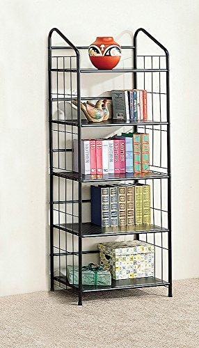 Coaster Home Furnishings 5-shelf Metal Bookcase, Black
