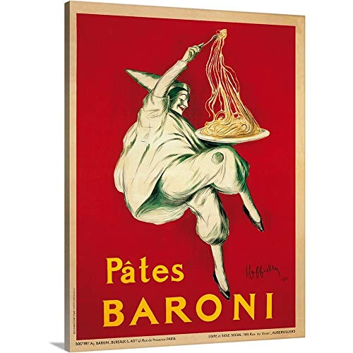Cappiello Canvas Print - Leonetto Cappiello Premium Thick-Wrap Canvas Wall Art Print Entitled Pates Baroni, 1921 18