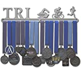 """Allied Medal Hanger - Triathlon Figures - Male (18"""" wide with 1 hang bar)"""