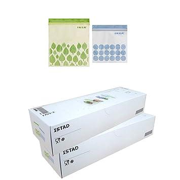 Ikea ISTAD Plastic Bag, Zip Poly Beutel, Lagerung Gefrierbeutel (2,
