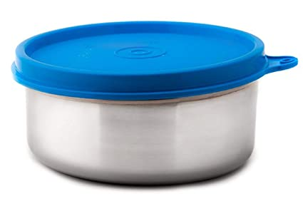 Signoraware Executive Medium Stainless Steel Container, 350ml/20mm, Blue