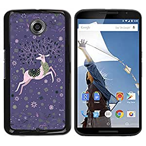MOBMART Carcasa Funda Case Cover Armor Shell PARA NEXUS 6 / X / Moto X Pro - Celebration Of The Flying Deer