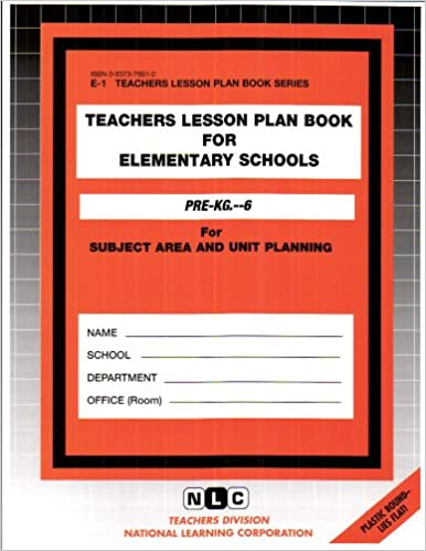 buy teachers lesson plan book for elementary schools pre kg 6