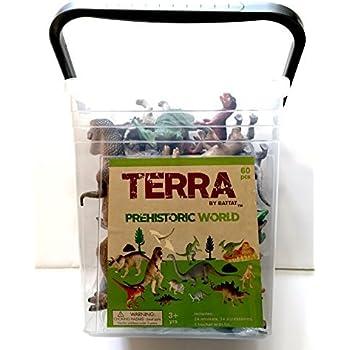 Amazon Com Terra Prehistoric World Dinosaur Playset In A