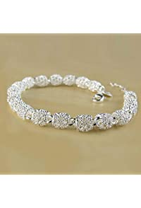 Bracelets Nice New Silver Big Rings Charm Women Simple Bracelet Jewelry Delicate Cool Gift Gl Bracing Up The Whole System And Strengthening It