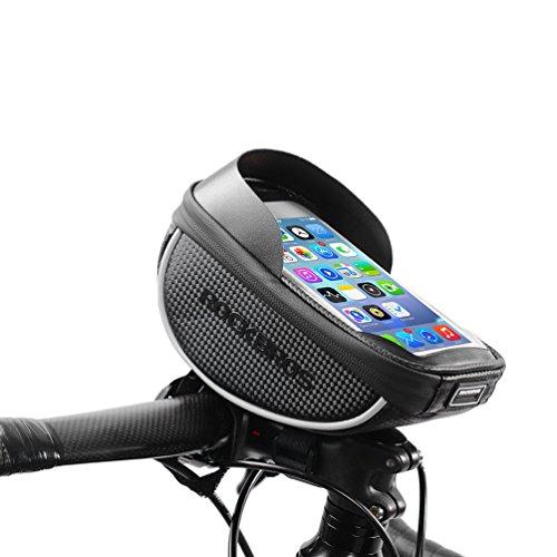 ROCKBROS Sacoche de Cadre Vélo pour Smartphone étanche Sac de Téléphone Portable Vélo Arrière écran Tactile Sous 6 pouces