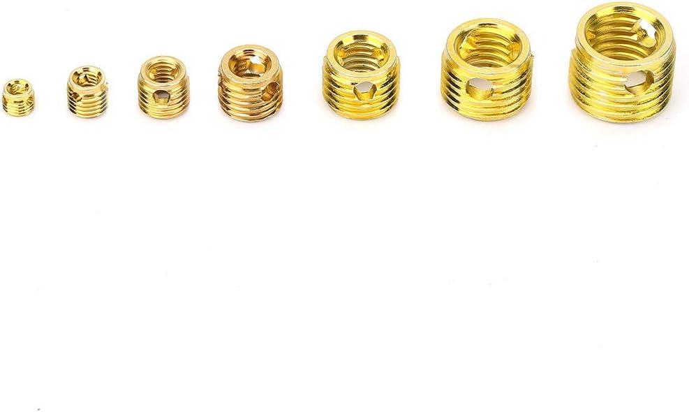 Kit dassortiment de manchons de r/éparation de filetage Kit de r/éparation de filetage 12pcs Inserts filet/és auto-taraudeurs femelles en acier au carbone zingu/é pour appareils m/énagers