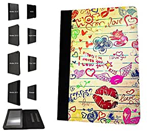 """1066 - cool fun fashion sketch illustration lips school art Design Amazon Kindle Voyage 6"""" 2014-2015 Models Fashion Trend TPU Leather Flip Case Protective Purse Pouch Book Style Defender Stand Cover"""