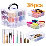 Needle Felting Kit, 24 Colors Wool Roving for Felting, Complete Needle Felting Starter Kit with Basic Felt Tools and Supplies Wool Fibre Hand Spinning Craft Wet Felting Material for Beginners 5g/Color: more info