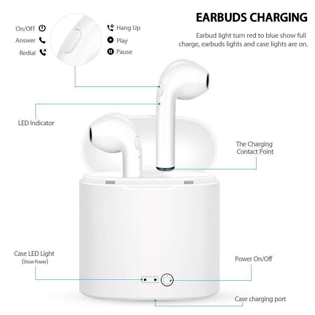 Cuffie Senza Fili con Microfono Stereo Scatola Di Ricarica Per iPhone//iPad// Samsung//Xiaomi// Huawei//LG Amzuun Cuffie Bluetooth Auricolare Bluetooth Wireless Bluetooth TWS