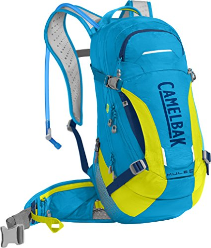 CamelBak M.U.L.E. LR Crux Lumbar Reservoir Hydration Pack, Atomic Blue/Sulfur Springs, 3 L/100 oz ()