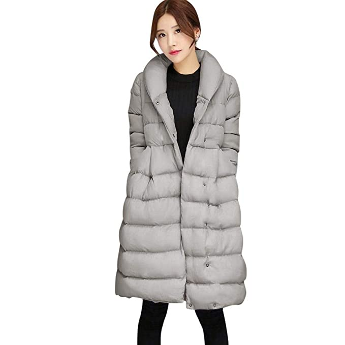 Abrigo Acolchado Mujer Largas Caliente Parka Invierno Elegantes Relaxed Fashion Casual Colores Sólidos Manga Largo Ropa