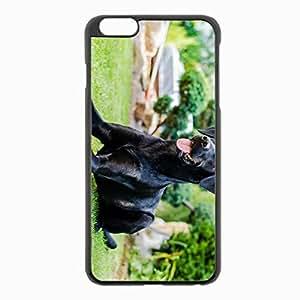 iPhone 6 Plus Black Hardshell Case 5.5inch - dog grass rest Desin Images Protector Back Cover