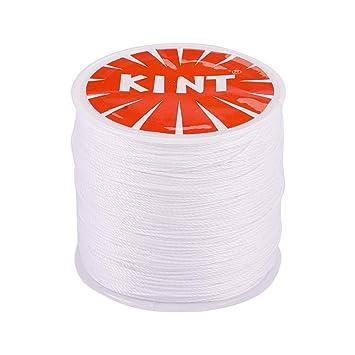 92dc0d80817e PandaHall Elite 1 Rollo 116 Yards 0.5 mm Blanco Cordón de algodón Hilo  Encerado Redondo para Hacer bisuteria Pulseras Collar Hilo para Abalorios   Amazon.es  ...