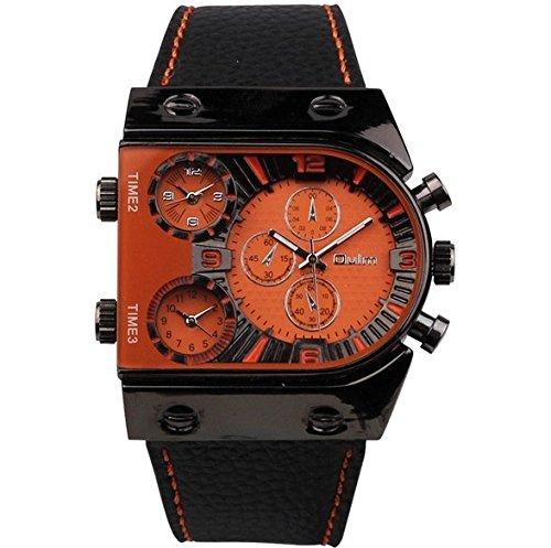 SJXIN Reloj Elegante Reloj OULM Moda Puntero Digital Reloj de Pantalla Dual Relojes de Moda (