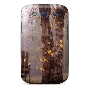 Perfect Autumn Leaves Falling On The Chair Case Cover Skin For Galaxy S3 Phone Case