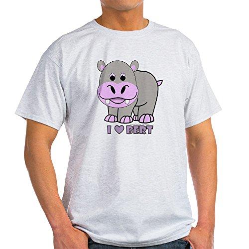 CafePress Bert The Hippo 100% Cotton T-Shirt Ash Grey
