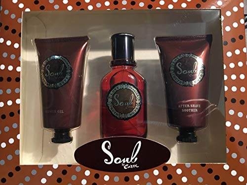 Curve Soul 3 Pieces Gift Set for Men 1.7 Oz, 2.5 Oz After Shave Soother 2.5 Oz Shower Gel