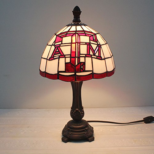 9-inch NCAA Texas A&M Aggies Stained Glass Table Lamp