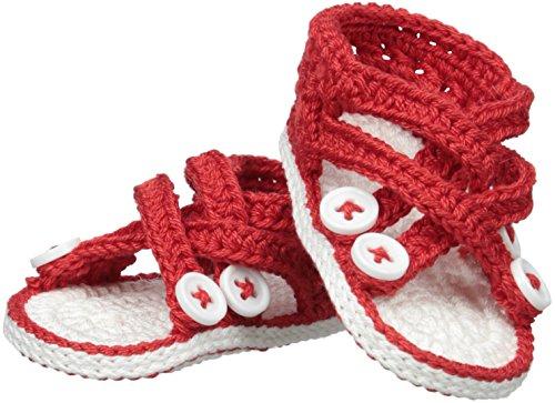 Jefferies Socks Baby Girls Newborn Criss Cross Sandal Crochet Bootie