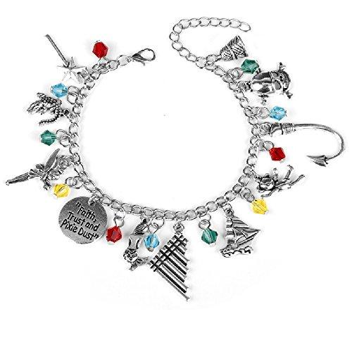 Ivy & Clover Movie Entertainment TV Jewelry Collection (Peter Pan Faith Trust Pixie Dust Charm Bracelet) ()