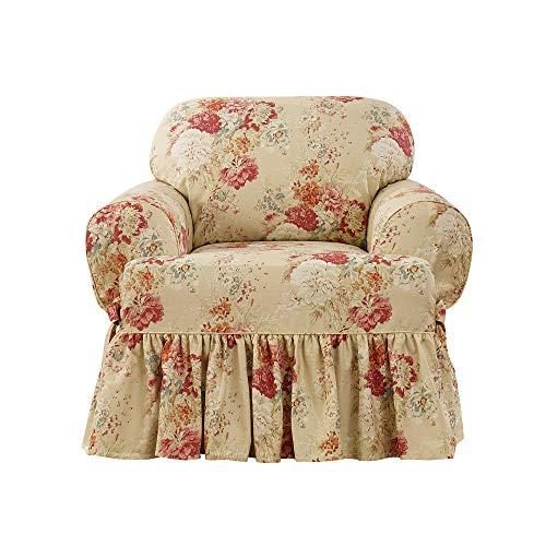 Surefit Ballad Bouquet Waverly One Piece Chair Slipcover - Blush ()