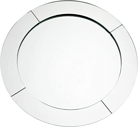 Amazon Com Koyal Wholesale Mirror Charger Plates Bulk Set Of 4 Silver Mirrored Glass Charger Plates Round Mirror Charger Place Settings Upscale Christmas Dinnerware Holiday Tablescape Modern Minimalist Charger Service Plates