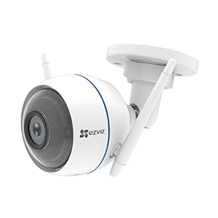 EZVIZ ezTube 720P Cámara de Seguridad, Defensa Activa, Compatible con Alexa, Luz Estroboscópica