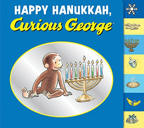 (Happy Hanukkah, Curious George tabbed board)