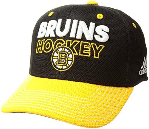 Boston Bruins Locker Room - adidas NHL Boston Bruins Adult Men Pro Authentic Locker Room Structured Flex, Large/X-Large, Black