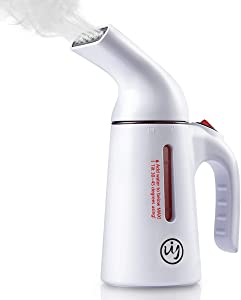 UY Garment Steamer for Clothes, 150ml Portable Handheld Garment Steamer/Fabric Steamer, 60 Seconds Fast Heat-up Powerful Mini Steam Iron for Travel/Home, White