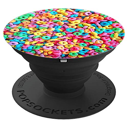 cereal breakfast colorful - PopSockets Grip and Stand for Phones and Tablets ()