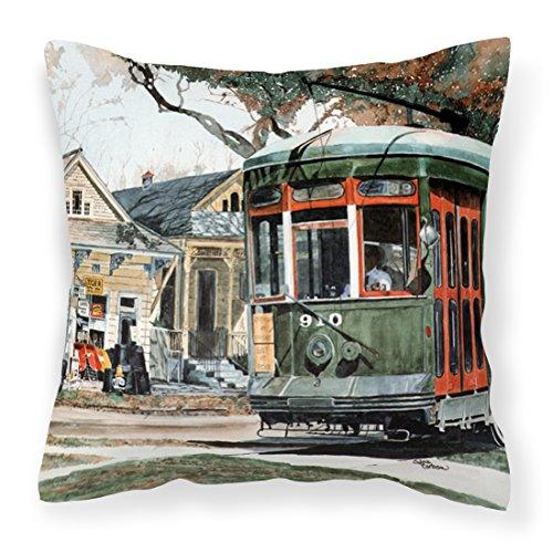 (Caroline's Treasures 8108PW1414 New Orleans Streetcar Decorative Canvas Fabric Pillow, Large, Multicolor)