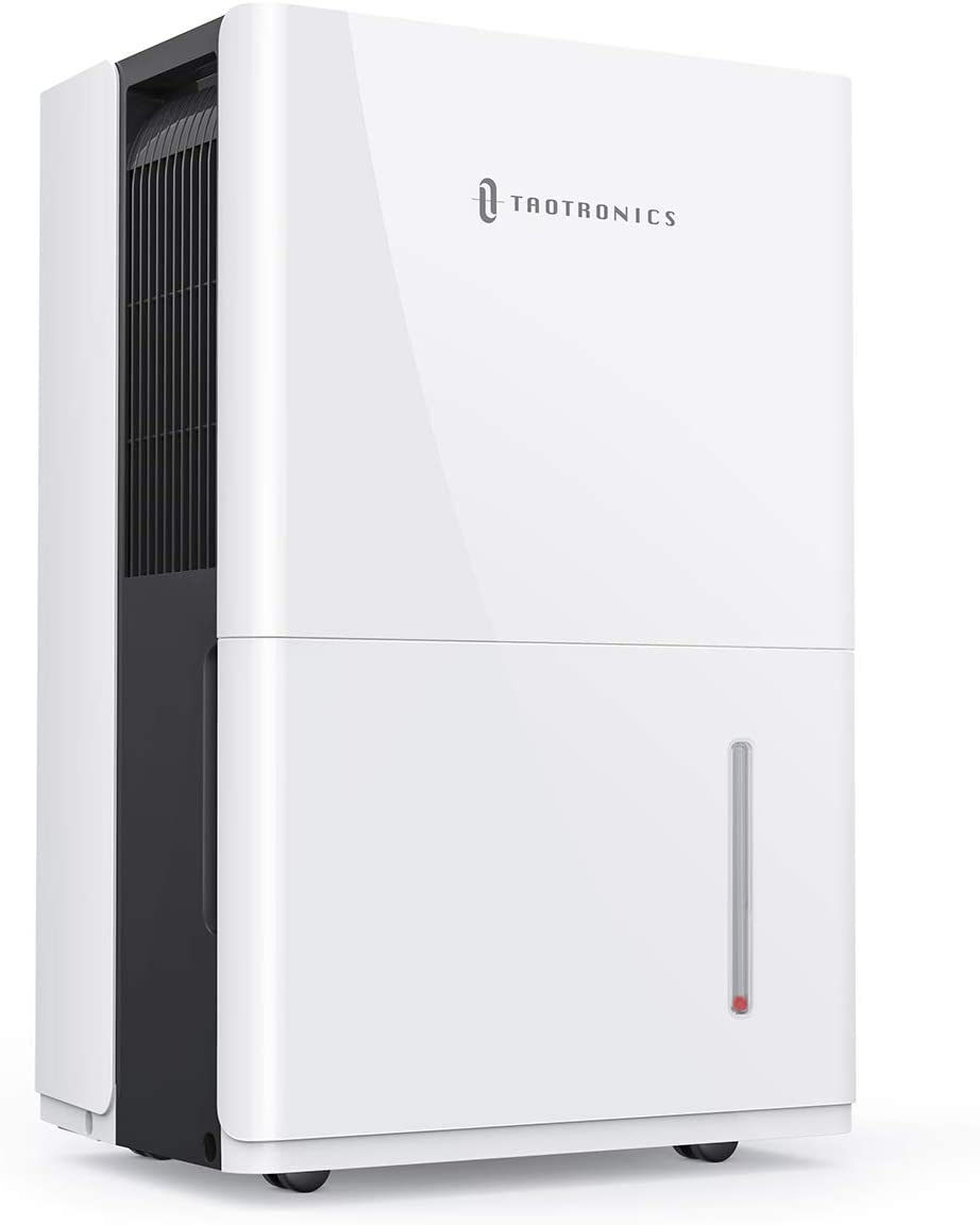 TaoTronics Dehumidifier 50 Pints, 4500 Sq. Ft Energy Star Dehumidifier with Pump, 6L Water Tank, Intelligent Humidity Control, Continuous Drainage for Living Room/Basement/Closet/Bedroom/Bathroom