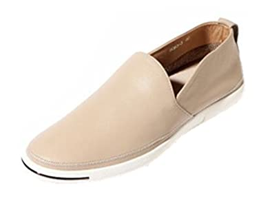 HAPPYSHOP(TM) Men's Casual Leather Moccasin Driving Shoe Sunmer Slip-on Loafers